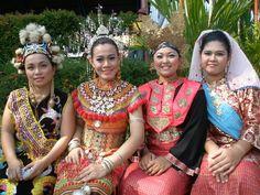 Ethnic Beauties of Sarawak with their traditional costume - Orang Ulu, Iban, Bidayuh, Melanau
