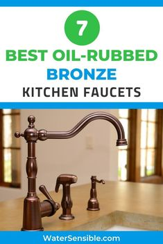 If you're in love with the warm, subtle glow of bronze and want to get an oil-rubbed finish for your new kitchen faucet, take a look at our list. We've found the top 7 best models out there for that gorgeous vintage vibe. Shower Faucet, Sink Faucets, Leaking Faucet, Best Kitchen Faucets, Building A Kitchen, Best Oils, Black Kitchens, Oil Rubbed Bronze, Decoration
