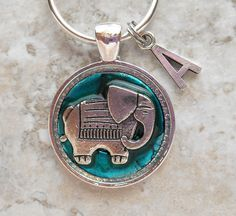 teal elephant keychain mens keychain spiritual keychain good luck charm  personalized keychain womens gift unique gift 2e8658d412
