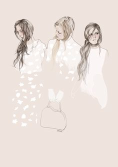 Fashion illustration for Simone Rocha // Agata Wierzbicka
