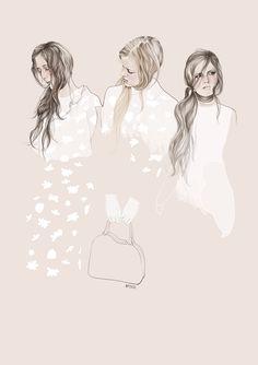 Fashion illustration for Simone Rocha // Agata Wierzbicka #illustration #fashion #drawing