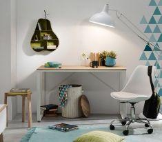 Kave Home - Bureau - Talbot - 120 x 60 x 76 - Wit/Natural Home Desk, Home Office Furniture, Home Office Decor, Dining Room Furniture, Online Furniture, Office Desk, Outdoor Furniture, Bureau Design, Inspiration Wall