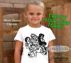 Colorable Tshirts! - Amaysing Gifts Home #colorable #birthday #Birthdayfavor #Birthdayparty #Birthdaypartyactivity
