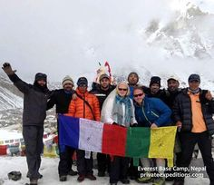 Our #honeymoon couple recreated their wedding at Everest base camp with privateexpeditions.com!