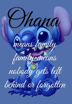 Ohana Means Family Lelo And Stitch Disney Art  by geeksleeksheek, $18.00