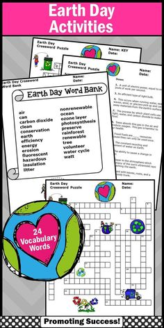 Earth day collaborative poster writing activity group project