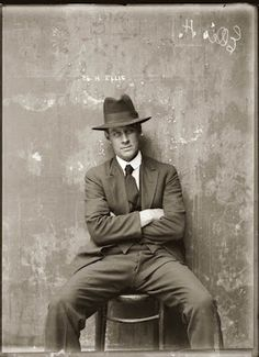 20s Gangster Mugshot. If only they were this classy still