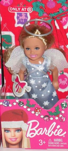 New 2012 Barbie Christmas Holiday Chelsea Kelly Doll Angel #Mattel #DollswithClothingAccessories