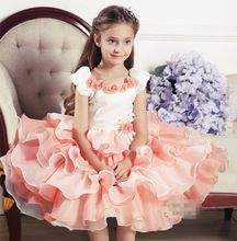 2 to 8Years Baby Girls Clothes Pink Tutu Dress Christmas Princess Dress Roupas Infantis Menina Sequined dress Party Dresses(China (Mainland))