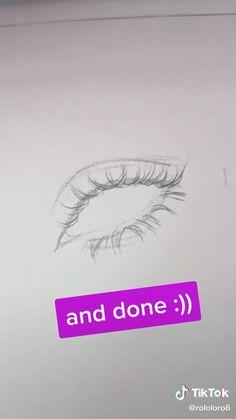 Drawing Tips Eyelashes Art Drawings Sketches Simple, Pencil Drawings Of Girls, Girl Drawing Sketches, Girly Drawings, Realistic Drawings, Easy Drawings, Dark Art Drawings, Sketchbook Drawings, Pencil Drawings Tumblr
