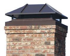 Need professional looking chimney caps? Choose from Masters Services standard Chimney Caps or have a custom chimney cap created. Backyard Fireplace, Brick Fireplace, Fireplace Ideas, Exterior Siding, Exterior Paint, Metal Siding, Metal Roof, Chimney Cap, Small Front Porches