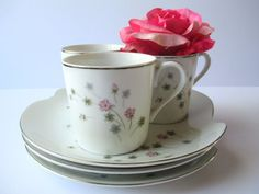 Vintage Summit China Pink Blue Floral Luncheon by jenscloset #momgift