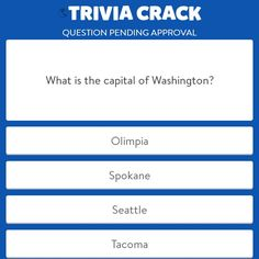 Just made a new question on Trivia Crack