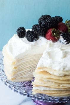 whipped lemon mascarpone cream filling is layered with lightly ...