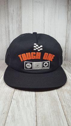 2bd72fb0 AC Delco, GM, General Motors, Tough One, vintage trucker hat, trucker cap,  adjustable, USA, general advertising products, Cincinnati Ohio