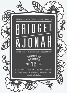 wedding invitations - Modern Botanicals by natalie nakai