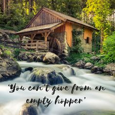 If you are tired, weary or as if you have nothing to give. This is an encouragement for you. Feel Tired, Empty, Waterfall, Encouragement, Cabin, Feelings, House Styles, Outdoor, Outdoors