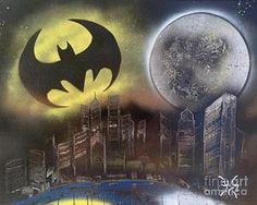 Dark Streets Painting - Gotham City by Tyler Haddox