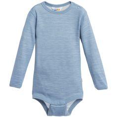 Joha Blue Wool & Bamboo Thermal Baby Bodyvest at Childrensalon.com