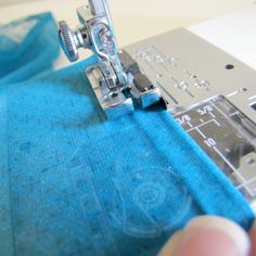 Tutorial: How to hem Chiffon and other sheer fabrics.