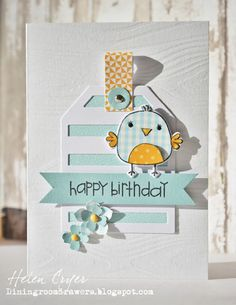 The Dining Room Drawers: Reverse Confetti Bird Cards