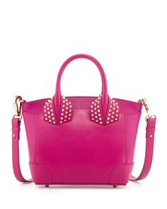Eloise+Small+Leather+Tote+Bag,+Fuchsia+by+Christian+Louboutin+at+Neiman+Marcus.