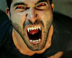 LoL! Almost missed the eyes because I was staring at his tongue, lol! #Derek #TylerHoechlin