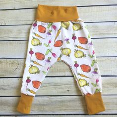 Garden Medley Organic Knit Harem Pants Sizes 0/3 Months- 6. Organic clothing for Babies, Toddlers & Children
