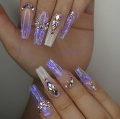 How to choose your fake nails? - My Nails Polygel Nails, Gem Nails, Dope Nails, Bling Nails, Bright Summer Acrylic Nails, Best Acrylic Nails, Nail Swag, Nagel Bling, Glamour Nails