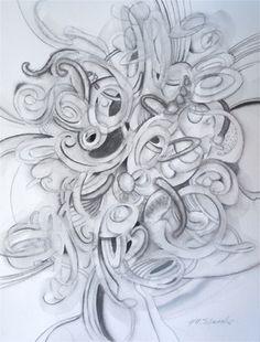 """Saatchi Online Artist John Norman Stewart; Drawing, """"Contemplation"""" #art"""