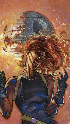 The future Mrs. Skywalker Mara Jade formerly the Emperor's Hand reacting to Palpatine's death.