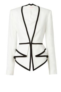 TWO DIMENSIONS tailored jacket with Peplum detail