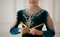 Competition Rhythmic Gymnastics Leotard #ice skating competition #handmade