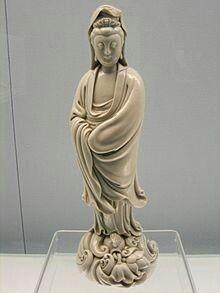 "Chaozhong He (Chinese, fl.) Statue of the Buddha, Guan Yin (c. ""Blanc de Chine"" ceramic sculpture The Shanghai Museum Buddha Buddhism, Buddhist Art, Wicca, Taiwan, Great Works Of Art, Chinese Ceramics, China Art, Guanyin, Chinese Culture"