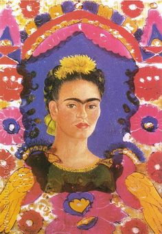 Self Portrait The Frame 1938 - Frida Kahlo reproduction oil painting