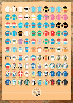 Tour de France 100 Jerseys poster