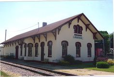 This is the Brodhead Wisconsin passenger depot.