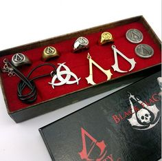 Online Cheap Assassins Creed Necklace A Complete Set Of Necklace And Rings Deiss Mond Decorations Brooch Skeleton Ghost Head Badge Assassin Creed Cosplay By Ryantong24 | Dhgate.Com