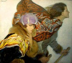 i want to be the girl in the backgroud Esquieses by Francisco Pons Arnau (1886 - 1955)