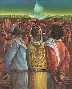 Sliman Mansour, Perseverance and Hope, In Mathaf: the Arab Museum of Modern Art in Doha, Qatar. Mansour b. 1947 is Palestinian. Palestine Art, Palestine History, Art Cart, Plastic Art, New Museum, Arabic Art, Museum Of Modern Art, Islamic Art, Fine Art Photography