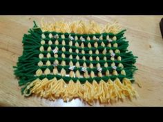 no knitiing , no chorchet woolen carpet ,rug , table cover easy menthod - YouTube