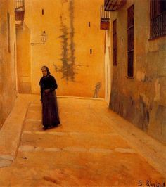 Santiago Rusiñol i Prats ~ Modernist/Symbolist painter House Portraits, Spanish Art, Spanish Artists, Painter, Oil Painting Pictures, Pablo Picasso Cubism, Art, Post Impressionists, Garden Painting
