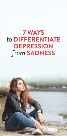 I wish people would not use the word depression so often, even if they feel sad. Depression is serious. 7 Ways To Differentiate Depression From Sadness . Depression Recovery, Depression Help, Mental Issues, Stress, Thing 1, Deal With Anxiety, Yoga, Psychology Facts, Differentiation