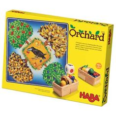 Orchard.  A game for children 3 and up.  It's easy for toddlers to understand and the players play against the raven - not against each other.