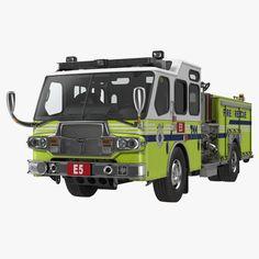 Fire Department E-One Quest Pumper 3d model