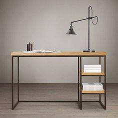 Escrivaninha Bristol por São Bernardo Móveis #metalemadeira #desingindustrial #industrialdesign #moveisrustico #homeoffice…