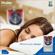 #Haier's #WashingMachine with Smart Direct Drive Motor gives your clothes the best wash and makes washing a fun experience! #Laundry #HaierIndia #Technology #Appliances