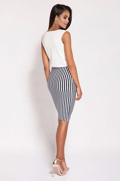 Rochie de ocazie eleganta alb Ruby - 209 Lei -  Fabricat in Europa -   Spandex  5% Viscosa  95%   -   Comanda acum!  #divashopromania #divashop #rochii #rochiideocazie  #fashion #fashionista #fashionable #fashionaddict #styleoftheday #styleblogger #stylish #style #instafashion #lifestyle #loveit #summer #americanstyle #ootd #ootdmagazine #outfit #trendy #trends #womensfashion #streetstyle #streetwear #streetfashion #shopping #outfitoftheday #outfitinspiration #ootdshare Striped Pants, Tights, Street Style, Skirts, Spandex, Outfit, Shopping, Products, Fashion