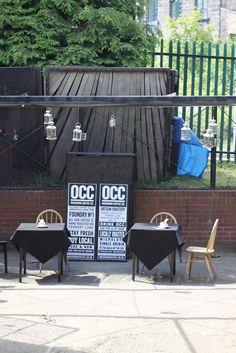 Ouseburn Coffee Co., Newcastle - outside tables