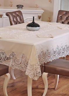 can be hand made tablecloth -masa örtüsü